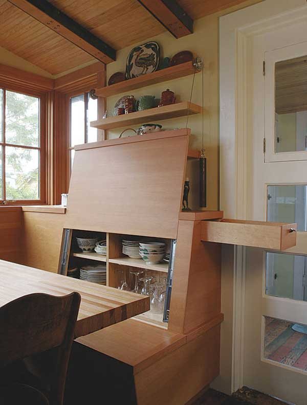 dining nook storage