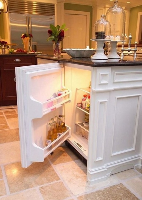 kitchen island beer fridge